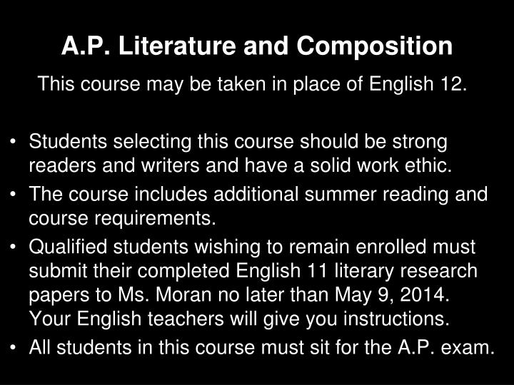 A.P. Literature and Composition