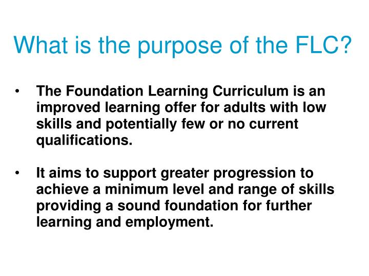 What is the purpose of the flc