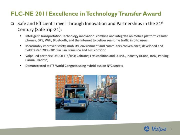Flc ne 2011excellence in technology transfer award