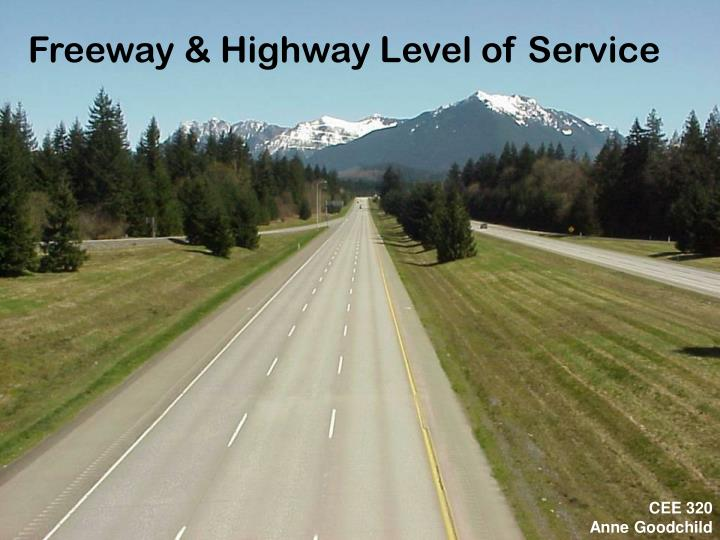 freeway highway level of service n.