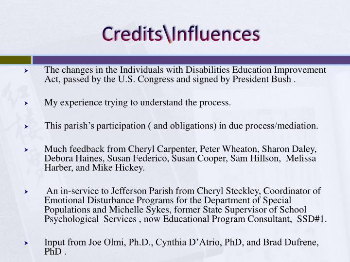 Credits influences