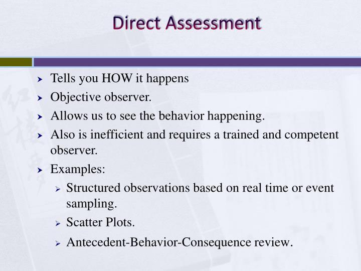 Direct Assessment