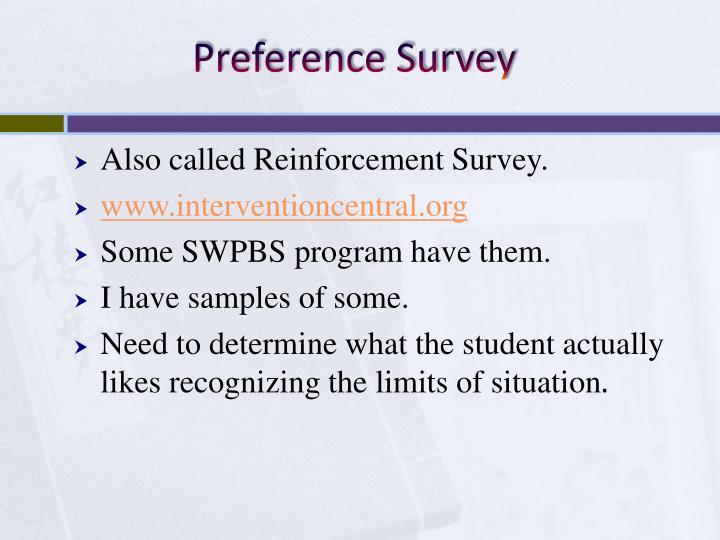 Preference Survey