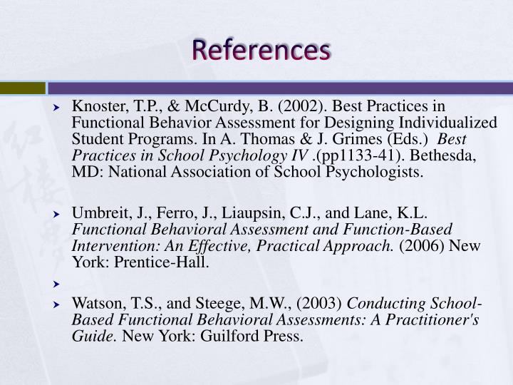 functional behavioural assessment case study A functional assessment has a narrower focus than a comprehensive evaluation it focuses on the why, how, where, when and what of your child's behavior it focuses on the why, how, where, when and what of your child's behavior.