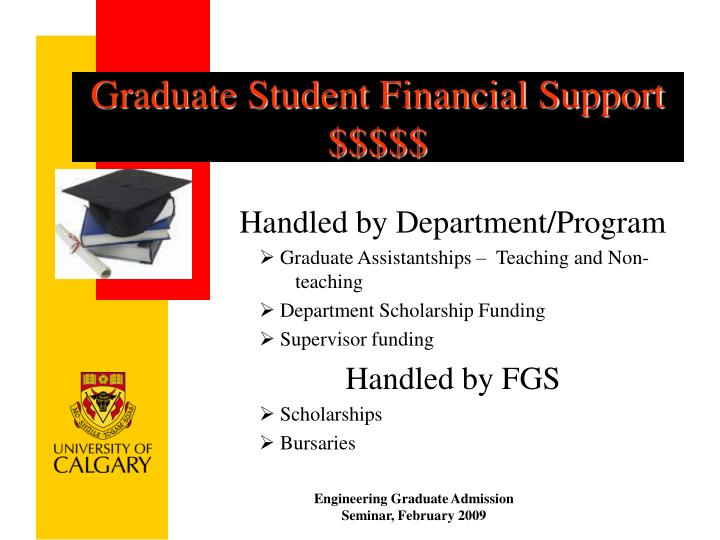 Graduate Student Financial Support $$$$$