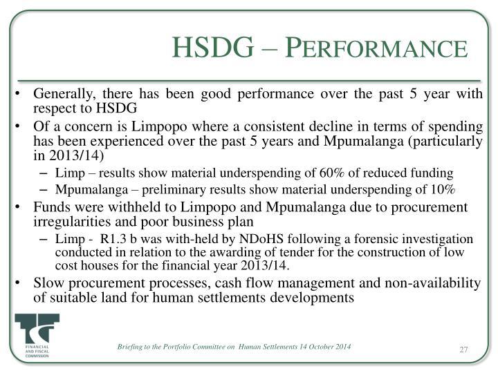 HSDG – Performance