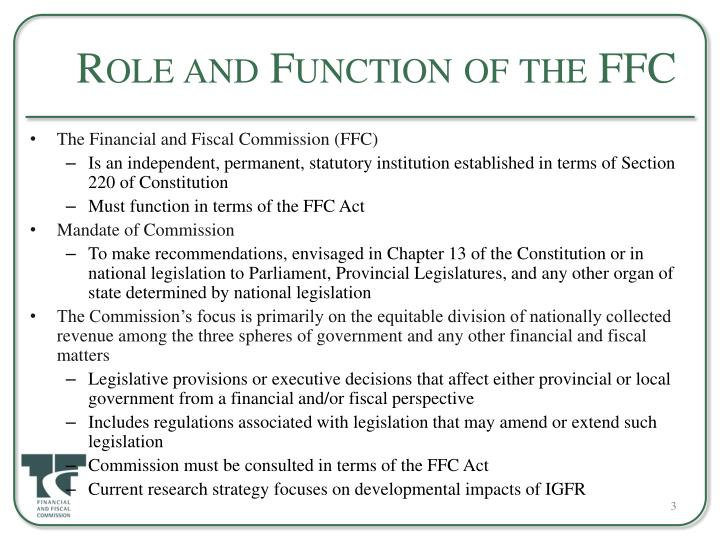 Role and function of the ffc