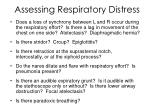 assessing respiratory distress