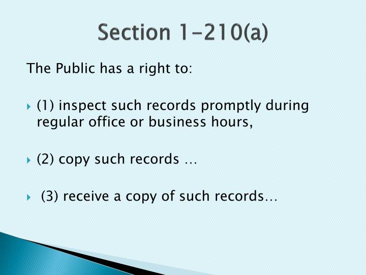 Section 1-210(a)