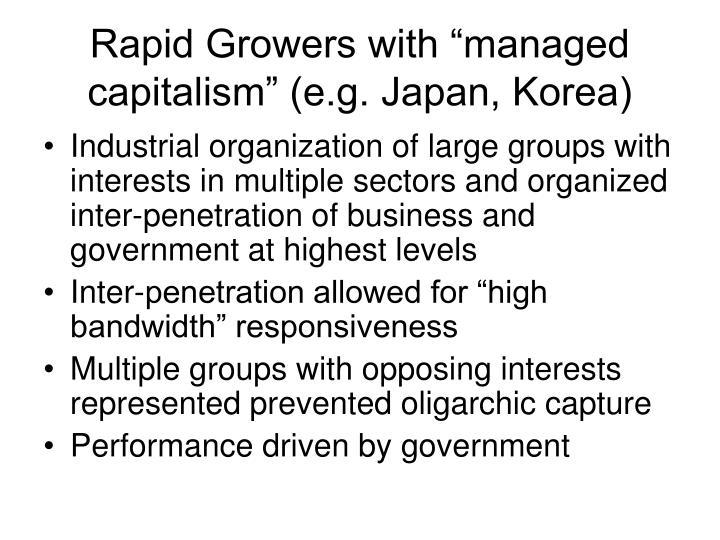 "Rapid Growers with ""managed capitalism"" (e.g. Japan, Korea)"