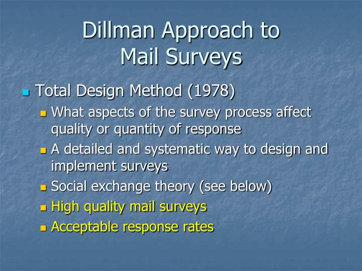 Dillman Approach to