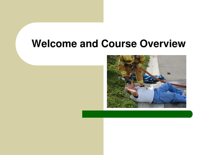 welcome and course overview n.
