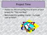project time