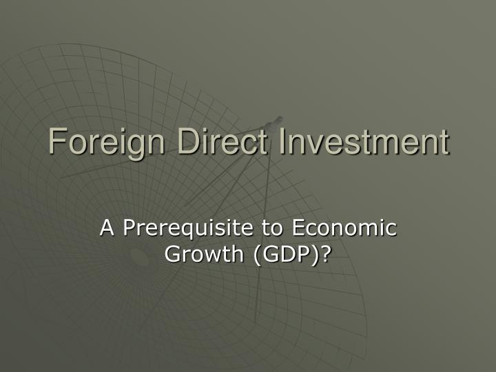 foreign direct investment n.