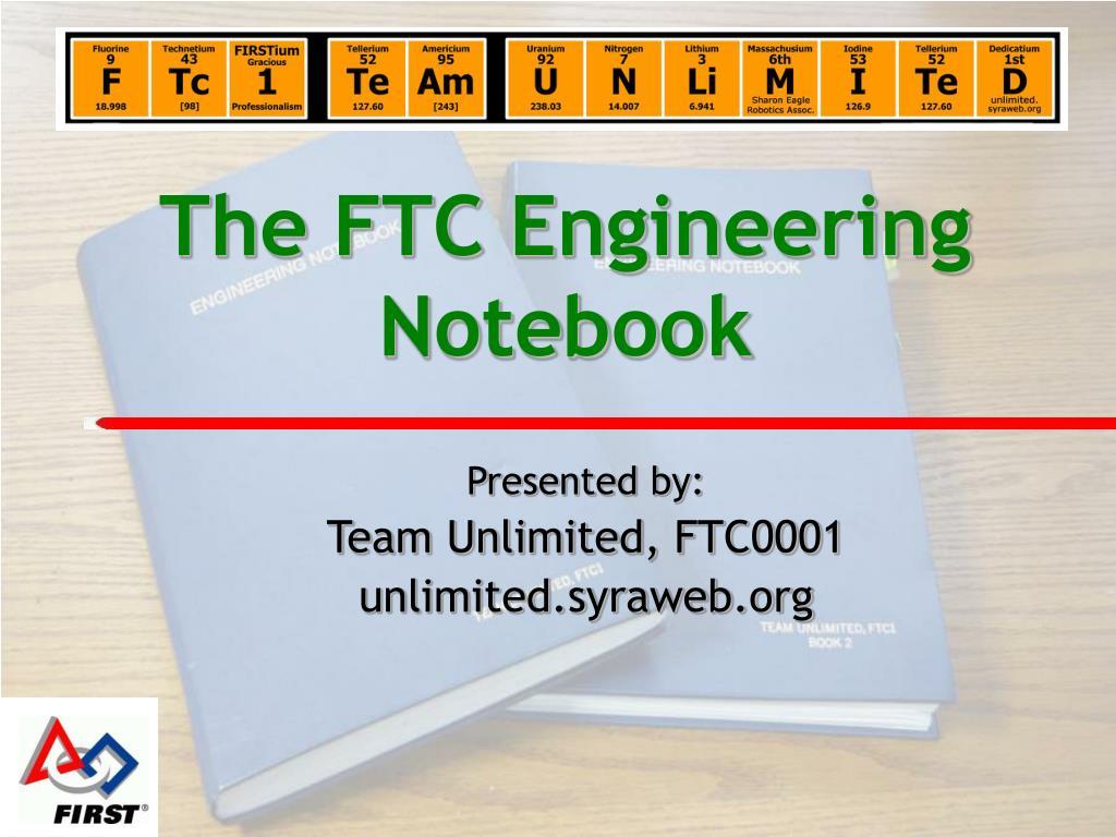 The Ftc Engineering Notebook N