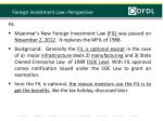 foreign investment law perspective