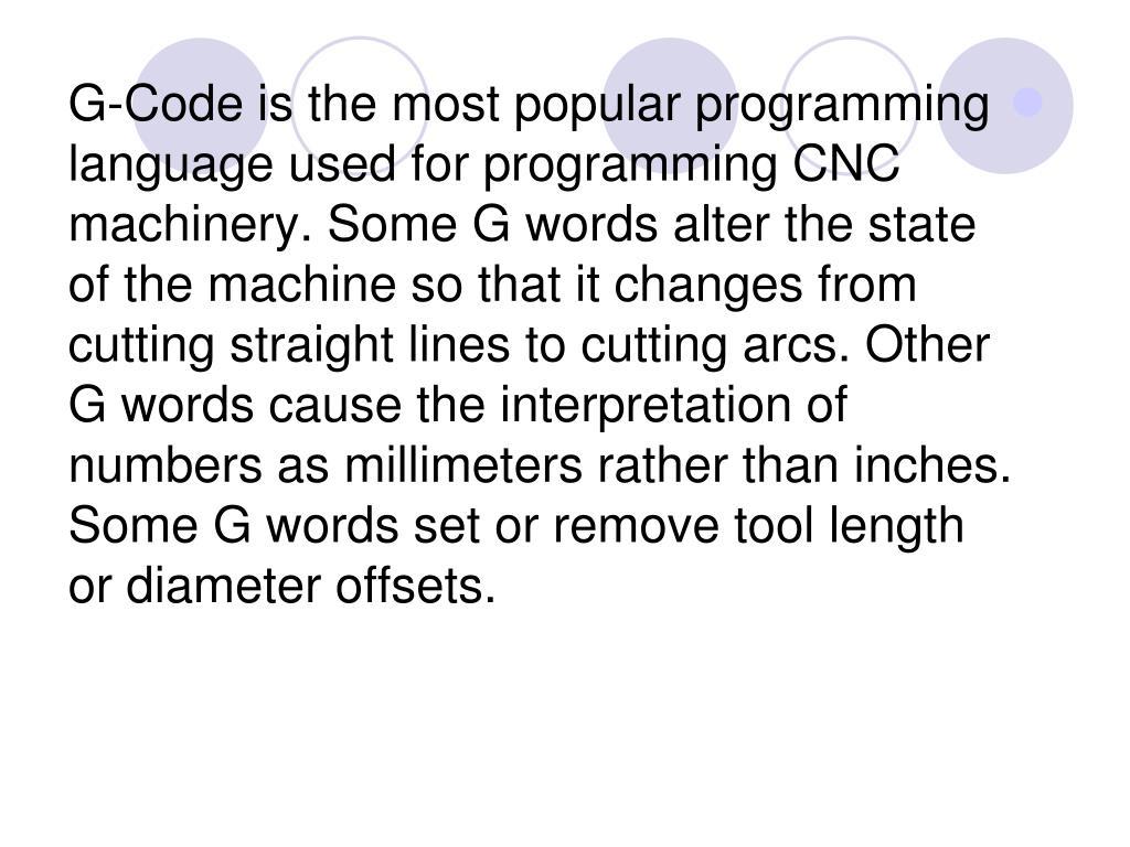 PPT - CNC Machine Language PowerPoint Presentation - ID:6684971