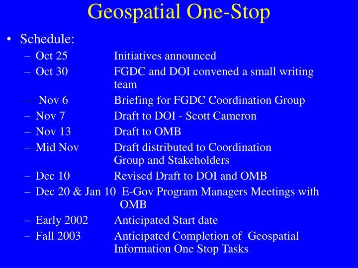 Geospatial One-Stop