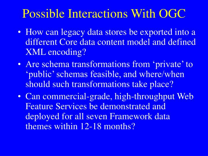 Possible Interactions With OGC