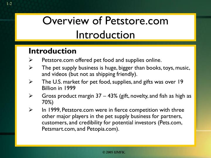 Overview of petstore com introduction