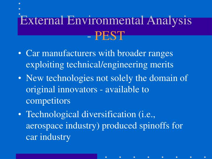 report on external environment analysis of This essay external environment analysis and other 63,000+ term report this essay sprint and external environment analysis of the external environment of.