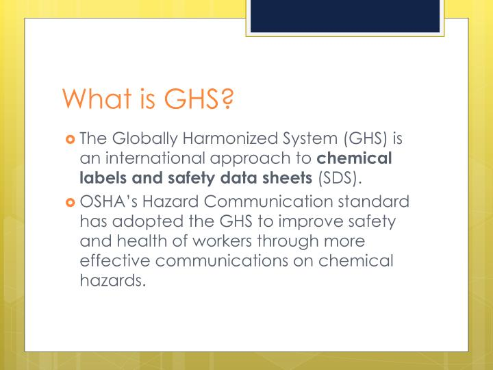 What is GHS?