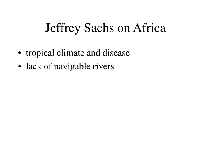 Jeffrey sachs on africa