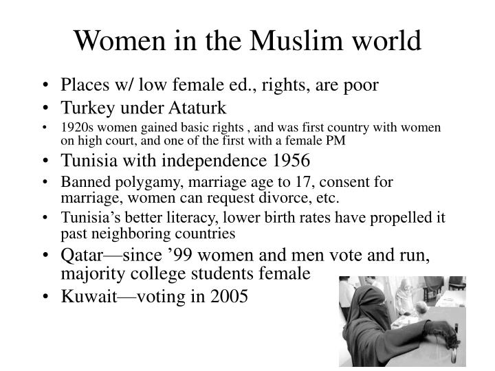 Women in the Muslim world