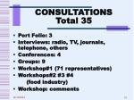 consultations total 35