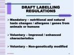 draft labelling regulations1