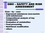 gmo safety and risk assessment