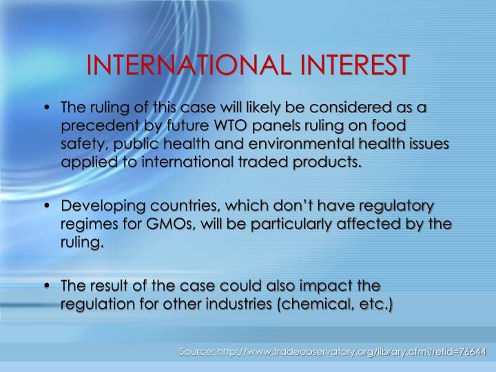 INTERNATIONAL INTEREST