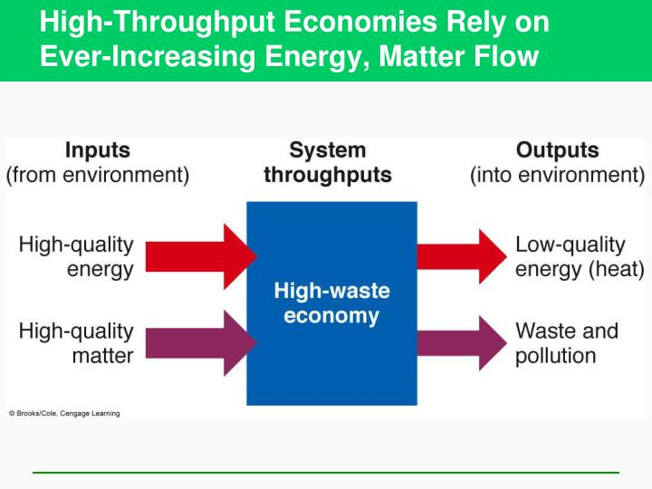 High-Throughput Economies Rely on Ever-Increasing Energy, Matter Flow