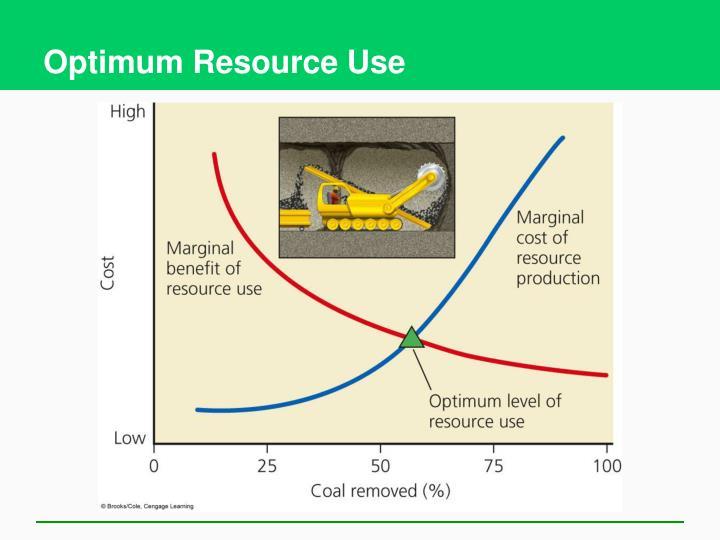 Optimum Resource Use