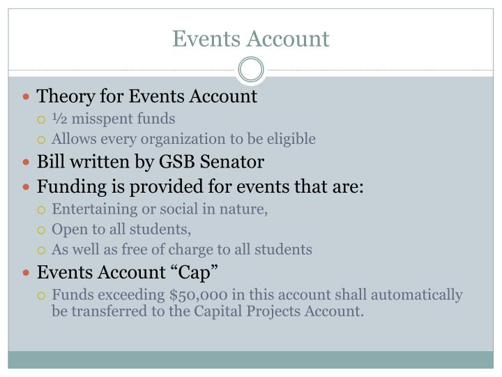 Events Account