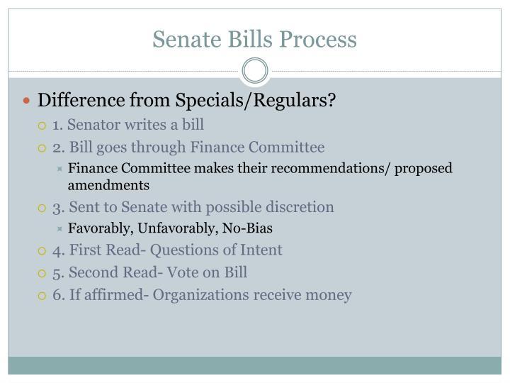 Senate Bills Process