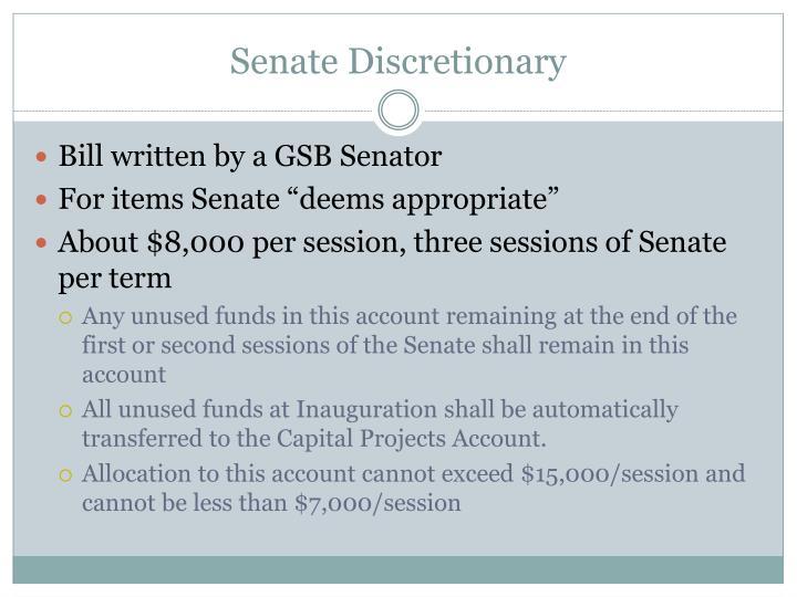 Senate Discretionary