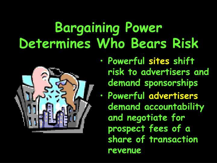 Bargaining Power Determines Who Bears Risk
