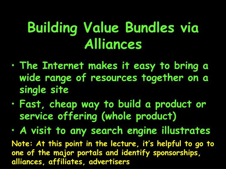 Building Value Bundles via Alliances
