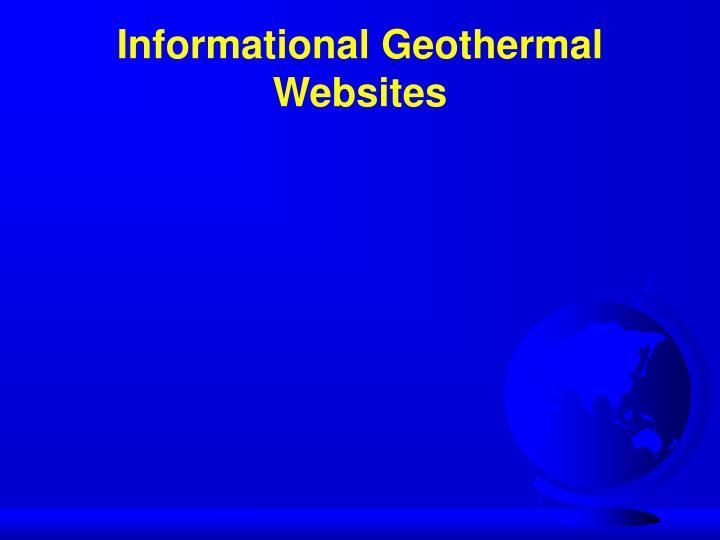 Informational geothermal websites