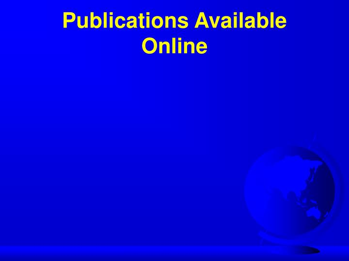 Publications Available Online