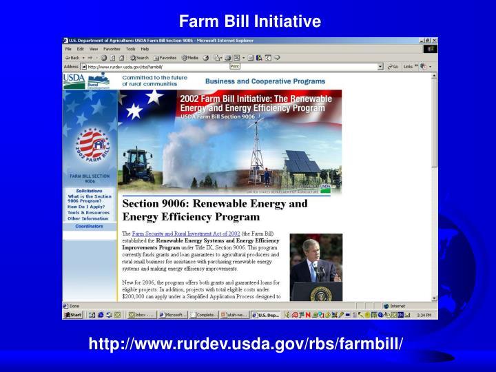 Farm Bill Initiative