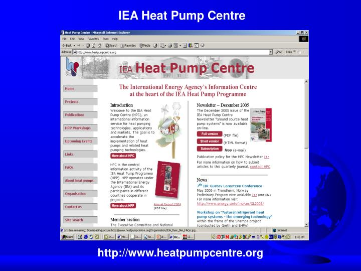 IEA Heat Pump Centre