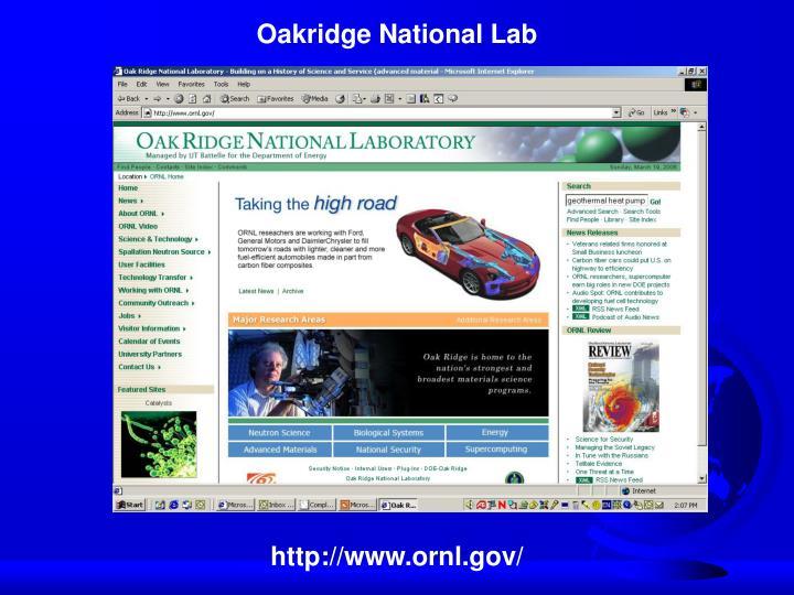 Oakridge National Lab