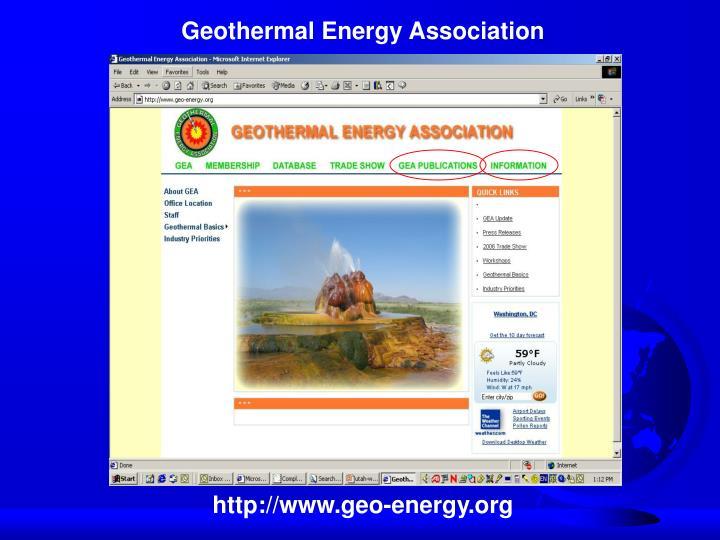 Geothermal Energy Association