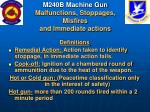 m240b machine gun malfunctions stoppages misfires and immediate actions1