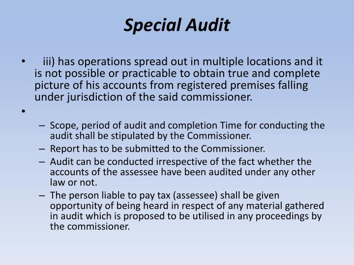 Special Audit