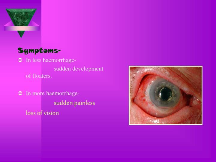 Symptoms-