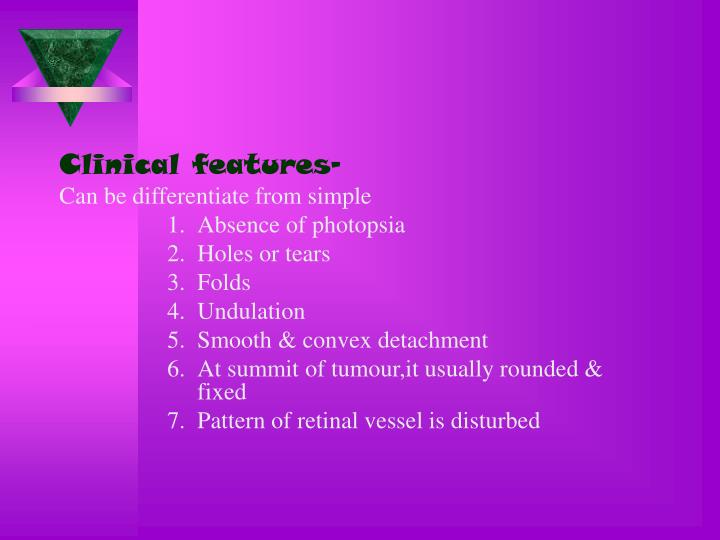 Clinical features-