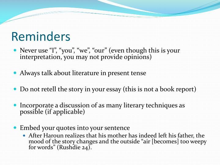Literary Analysis Essay-